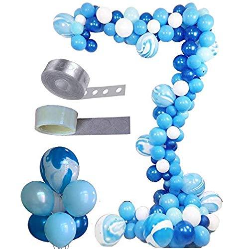 Erosion Ballon Bogen & Garland Kit, Asonlye 128 Stück Ballon Bouquet Kit, Urlaub, Hochzeit, Baby-Dusche, Abschlussfeier, Jubiläum Bio Partydekorationen (Blaue)