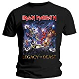 Tee Shack Iron Maiden Legacy of The Beast Steve Harris Offiziell Männer T-Shirt Herren (X-Large)