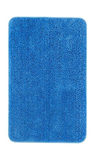andiamo Microfaser Badteppich Größen-Oeko-Tex 100-Badvorleger eckig Badematte, Polyester, blau, 70x120 cm
