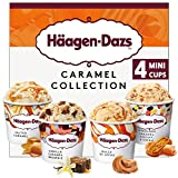 Häagen-Dazs Caramel Ice Cream Minicup Collection, 4 x 100ml (Frozen)