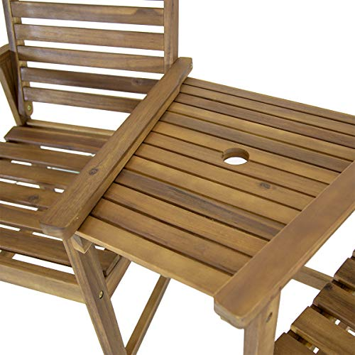 Charles Bentley FSC Acacia Garden Companion Seat - Color: Natural