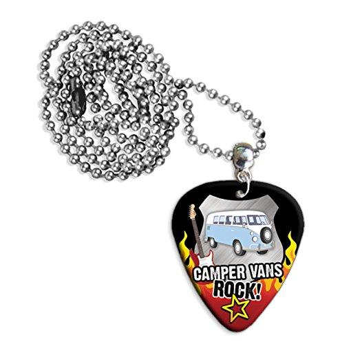 Camper Van Vans Rock Guitar Pick Collana Necklace Plectrum Chain (R1)