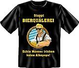 Fun Bier Shirt Stoppt Bierquaelerei Echte Maenner trinken keine Alkopops! Small