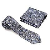 Vibhavari Men's Tie and Pocket Square (Paisley Design)