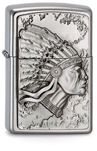 Zippo 2003536 Feuerzeug 207 Indianhead Emblem