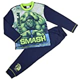 Jungen Avengers Marvel Schlafanzug Set Thor Hulk Iron Man Captain Amerika 4-5Y to 9-1 - Hulk, 122-128
