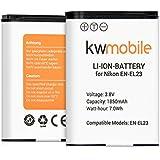 kwmobile batterie d'appareil photo numérique pour Nikon EN-EL23 Lithium-Ion batterie Nikon CoolPix B700 P900 P600 P610 S810C