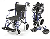 Lightweight deluxe folding transit travel wheelchair in a bag with handbrakes ECTR04