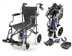 Léger deluxe pliant fauteuil roulant de voyage de transit dans un sac avec des freins à main ECTR04