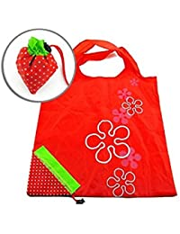 Nalmatoionme Strawberry Folding Compact Eco Recycling Use Shopping Bag