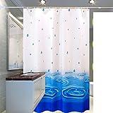 Polyester duschvorhang, Wasserdicht Schimmel nachweis resistent Badezimmer duschvorhänge, Peva-duschvorhänge-A 300x200cm(118x79inch)