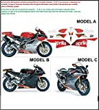 Kit adesivi decal stickers APRILIA RSV 1000 R 2004 ERRE FACTORY (ability to customize the colors)