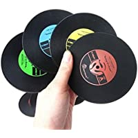 jhtceu Retro CD-Design - Posavasos antideslizante de silicona para taza de café