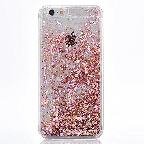 Voguecase® Pour Apple iPhone 6/6S 4.7, Luxe Flowing Bling Glitter Sparkles Quicksand et les étoiles Hard Case étui Housse Etui(coloré) de Gratuit stylet l'écran aléatoire universelle Boîte Quicksand-Pink
