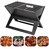 #1: Livzing Barbeque bbq Charcoal Grill Notebook Foldable Carbon Crystal Plate stainless steel Oven