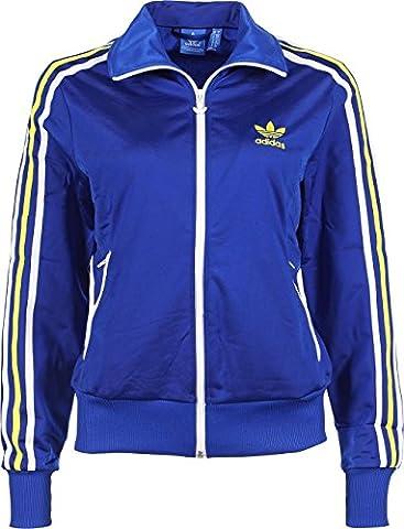 adidas Damen Trainingsjacke Firebird Ml, Collegiate Royal/Fairway, 34, G87405 (Adidas Firebird Jacke Blau)