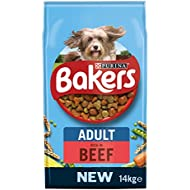Bakers Adult Dog Food Beef and Veg, 14 kg