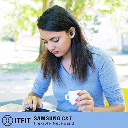 (Renewed) Samsung ITFIT Bluetooth Wireless Earphone with Flexible Neck Band and handsfree Mic (GP-OAU019SABBI, Black) Image 6