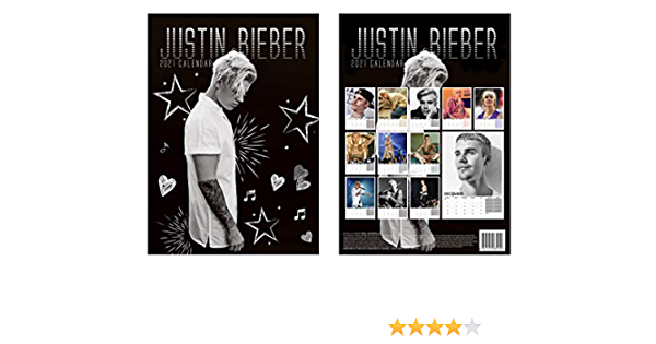 Justin Bieber Calendrier mural 2021 Grand format A3