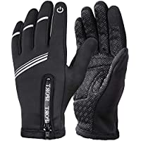 Cycling Gloves Winter Warm Gloves Water-resistant Windproof Touch Screen Gloves for Outdoor Sports Riding Climbing Camping Hiking Gardening Motorcycle Work Men Women