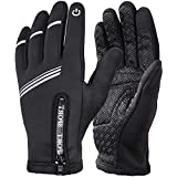 HASAGEI Cycling Gloves Winter Warm Gloves Water Resistant Windproof Touch Screen Gloves