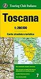 Toscana 1:200.000. Carta stradale e turistica. Ediz. multilingue