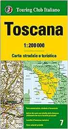 Cartina Stradale Toscana Dettagliata.Amazon It Toscana 1 200 000 Carta Stradale E Turistica Lingua Inglese Aa Vv Libri In Altre Lingue
