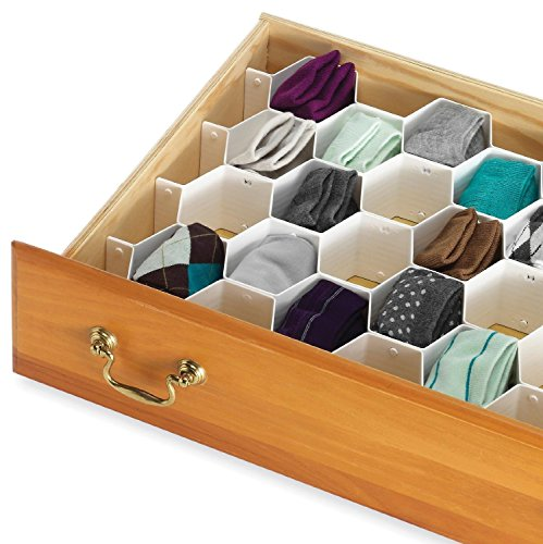 Denny International® 18 Cabinet Organizer Drawer Clapboard Plastic Partition Closet Divider Honeycomb