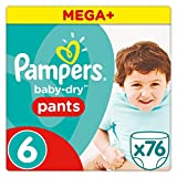 Pampers - Baby Dry Pants - Couches-culottes Taille 6 (+15 kg) - Mega+ Pack (x76 culottes)