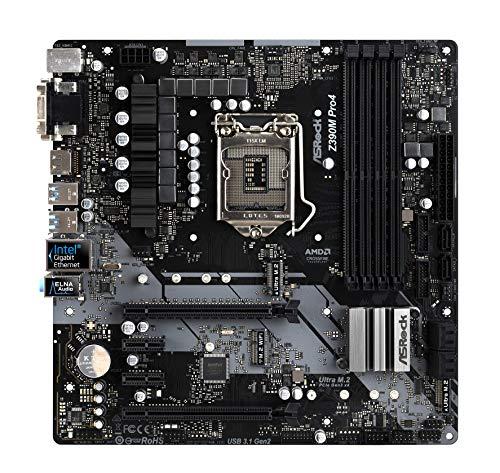 ASRock Z390 PRO4 Mainboard, Socket 1151, ATX Motherboard, saphirschwarz