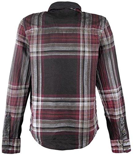 Brandit Raven Wire Shirt Herren Hemd Choco-Red B-4010 Braun/Rot