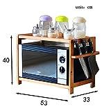 Aufbewahrung 2 Tier Bambus Mikrowelle Regal Arbeitsplatte Lagerregale Küche Zähler und Kabinett Regal Organisation (Größe : 53cm)
