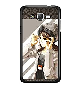 PRINTSWAG GIRL WITH GLASSES Designer Back Cover Case for SAMSUNG GALAXY J7