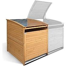 Mülltonnenbox Holz 240 L Gartenbox Mülltonnenverkleidung Mülltonne (Einzelbox 240L)
