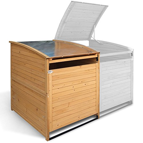Mülltonnenbox Holz 240 L Gartenbox Mülltonnenverkleidung Mülltonne (Einzelbox + 2xAnbaubox) - 3