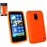 Emartbuy ® Nokia Lumia 620 Silikon Skin Cover / Case Orange