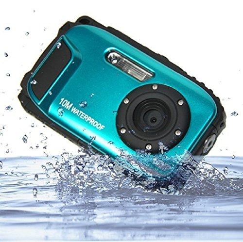 PowerLead 2,7 pouces caméras LCD Appareil photo numérique 16MP caméra étanche 10 m à l'eau + 8x Zoom (bleu)