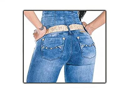 Blue Jeans Jumpsuit Overall Ladies Girls Women's Quality Stretchy Wonder Push Up Backside-Lifting Butt Lift Jeans