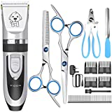 Dog Clippers Cat Shaver,YiDon Cordless Hair trimmer Rechargeable adjustable dog grooming kit-nail clippers