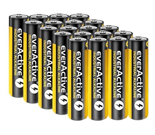 20 Stück Everactive INDUSTRIAL Batterien Mikro AAA 1100 mAh 1,5 V LR03 Alkaline