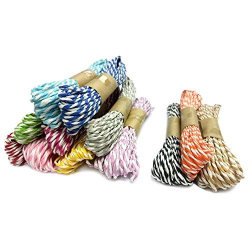 G2PLUS 12 Farben von Papier Strings Bastelschnur Dekokordel Schnur für DIY Kunstgewerbe