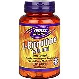 L-citrulline, 1200 mg, 120 comprimés - Now Foods