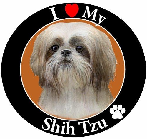 E&S Pets Auto-Magnet, Shih TZU,/Weiß Puppy Schnitt -