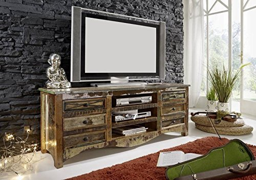 Altholz massiv mehrfarbig Massivmöbel Holz Lowboard Massivholz Möbel massiv Spirit #16