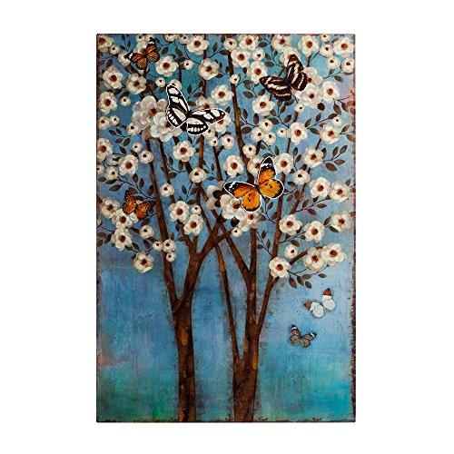 Mural de Metal de árbol Azul Oriental para decoración Vitta - LOLAhome