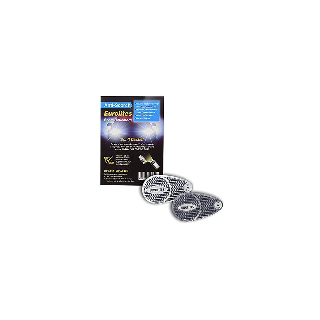 Eurolites Car Headlight Headlamp ANTI-SCORCH BEAM REFLECTORS Adaptors Deflectors