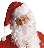 Boland Occhiali Babbo Natale - Solo Montatura per Adulti, Oro, Taglia Unica, 13418