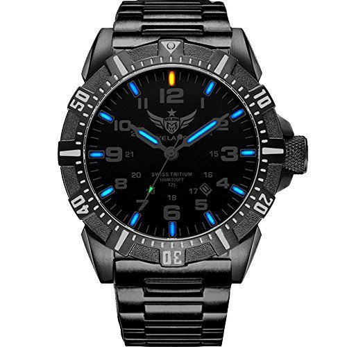 YELANG V1003 steel strap blue luminous