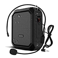 Portable Voice Amplifier with Bluetooth Microphone Pa Speak with headset Mic for Teachers, Coaches, Elderly, Tour Guide, Etc. (M800 Black)