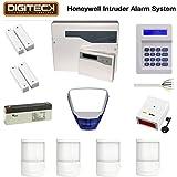 Alimentation et d'ajustement populaire Honeywell Meilleur Home Burglar Intruder Système d'alarme personnalisable tous les accessoires PIR, panneau de commande, clavier de contact de la porte etc.. Idéal pour les maisons, appartements, garage, (Usage domestique)